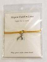 Chronic Illness Support Ribbon Bracelet