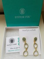 Marlyn Schiff pave drop earrings