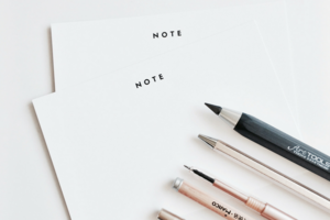 "Cloth & Paper ""Note"" Notecards"