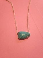 Limited Edition Kendra Scott Turquoise and Yellow Gold Necklace