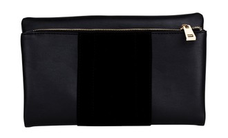 Summer & Rose Foldover Clutch in Black