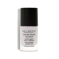 Nail Medic Charcoal-infused nail polish in Volcanic Ash