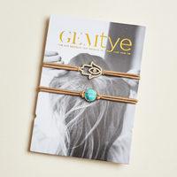 Gemtye Hair tye and bracelet