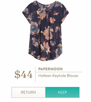 Papermoon Holleen Keyhole Blouse