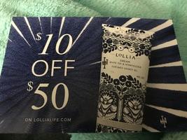 Lollia $10 off $50 purchase