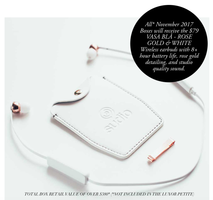 Vasa BLA rose gold and white wireless earbuds