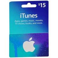 $15 iTunes card