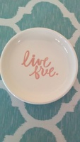 """Live Free"" Ceramic Trinket Tray"