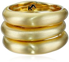 Karen Kane New Moon Stackable Ring Set - Gold Matte