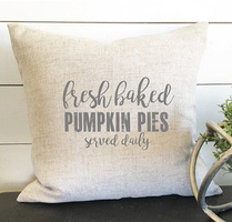 Fresh baked pumpkin pie pillow cover