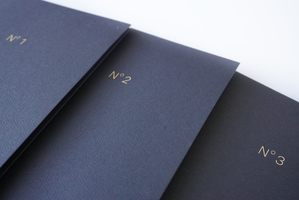 Set of 5 black paper folders from Cloth & Paper, 9x5