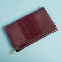 Summer & Rose Foldover Clutch in Burgundy