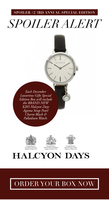 Halcyon Days Agama Strap Pearl Charm Black & Palladium Watch