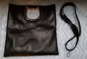 Cat Cutout Convertible Tote and Clutch Bag - Exclusive