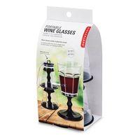Kikkerland Stacking Wine Glass Travel Set