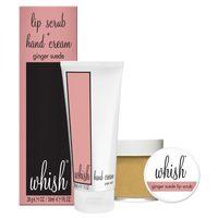 Whish Lip Scrub & Mini Hand Cream Duo-Ginger Suede