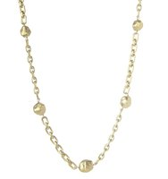 Rivka Freidman Satin Nugget Station Necklace in Gold