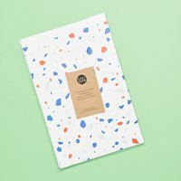 Knot & Bow Holiday Mint Newsprint Gift Wrap