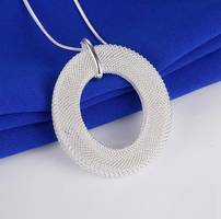 Mesh Circle Pendant Necklace from jewelrysubscription.com