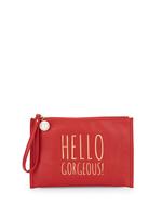 Deux Lux Hello Gorgeous Wristlet red
