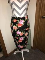 Floral Pencil Skirt 1X-2X