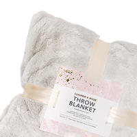 Summer and Rose Grey Blanket