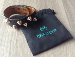 Bauble Bar Leather Dual Cone Cuff