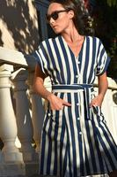 St. Tropez Striped Linen Dress
