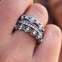 "Edie ""Queen"" Silver 3 Ring Set"