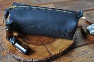 Kiko Leather Zipper Pouch