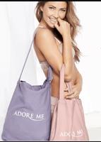 AdoreMe pink tote bag