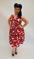 Fabi Red and White Polka dot dress