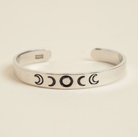 Zenned out metal moon phase bracelet