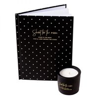 Modern Alchemy Notebook & Candle Duo in Black - Shoot for the Moon