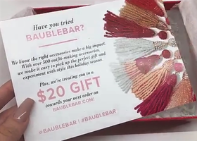 Bauble Bar $20 Gift code