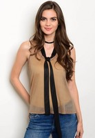 Sheer taupe top