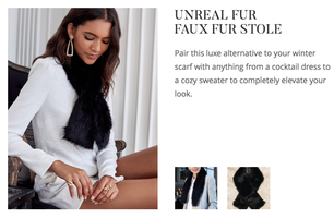 Unreal Fur Faux Fur Stole