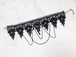 Black Laced Statement Necklace