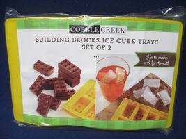 Building Blocks Lego Ice Cube Trays Set of 2 by Cobble Creek