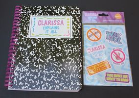 Clarissa Explains It All Composition Notebook and Stickers