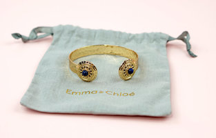 The Byzance Shield Gold Bangle Bracelet