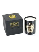 Black Delft Skull Candle