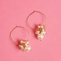 Chan Luu Crystal and Pearl GOLD Earrings