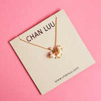Chan Luu Crystal and Pearl GOLD Necklace
