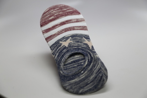 No show socks US Flag 4th of July Men's