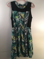 Potter's Pot Palm Print Dress