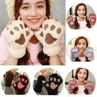 cozy paw gloves - cream