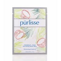 purlisse coconut and rice nourishing sheet mask