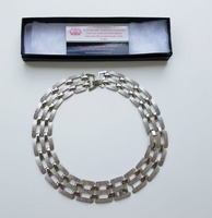 Silver frost link necklace