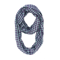Brianne Faye Infinity Houndstooth Scarf